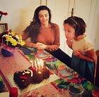 Iva Kubelková oslavila osmé narozeniny mladší dcery.