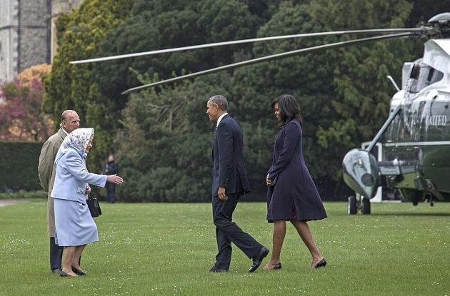 Michelle Obama, Barack a královna