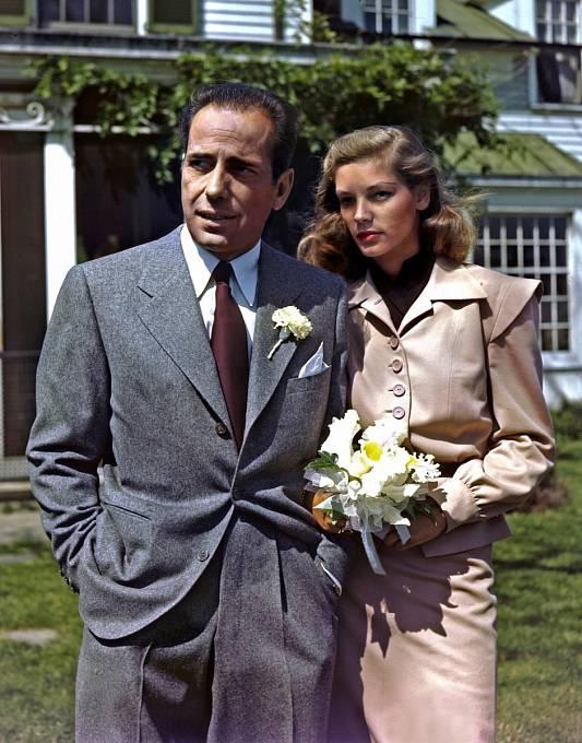 Bogart si vroce 1945 vzal zaženu mladičkou milenku Lauren Bacall.