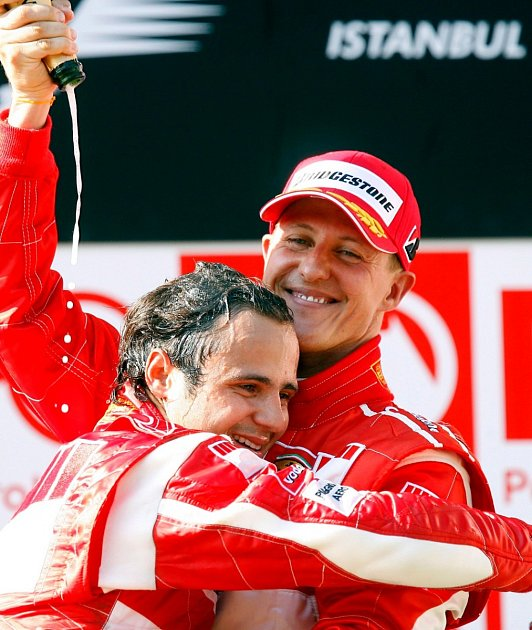 Felipe Massa a Michael Schumacher