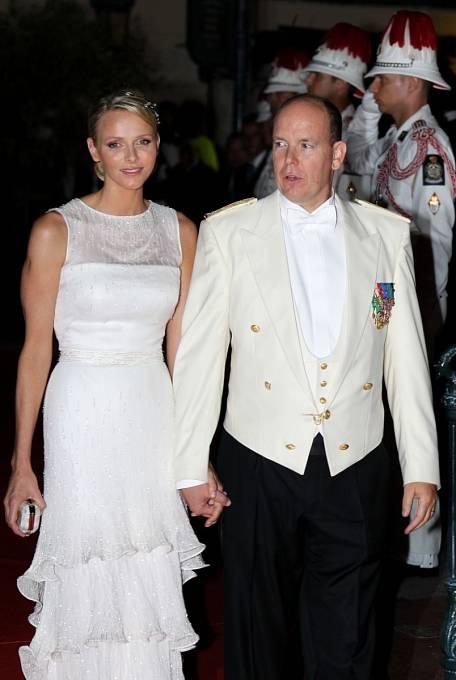 Kníže Albert II. s manželkou