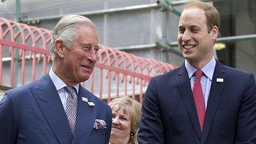 Princ Charles se synem Williamem