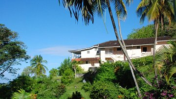 Trinidad a Tobago: Krásný ukrytý hotel nad malou pláží uprostřed zahrady plné kolibříků, motmotů a dalších jiných druhů je k tomu přímo stvořený. Kde? Na Tobagu v Arnos Vale.