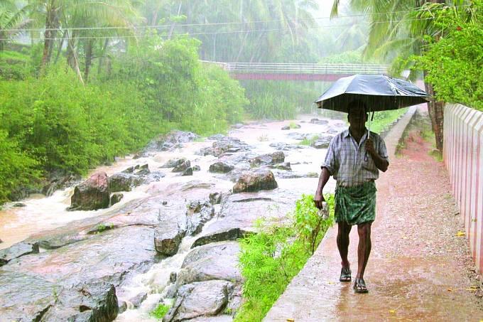 Vestátě Kerala jsou nadéšť zvyklí, ale nikoli načervený.