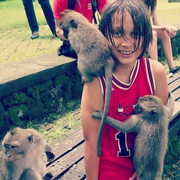 Syn Heleny Houdové má rád opičky.