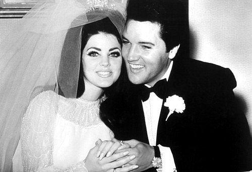 Priscilla na svatbě sElvisem Presleym.