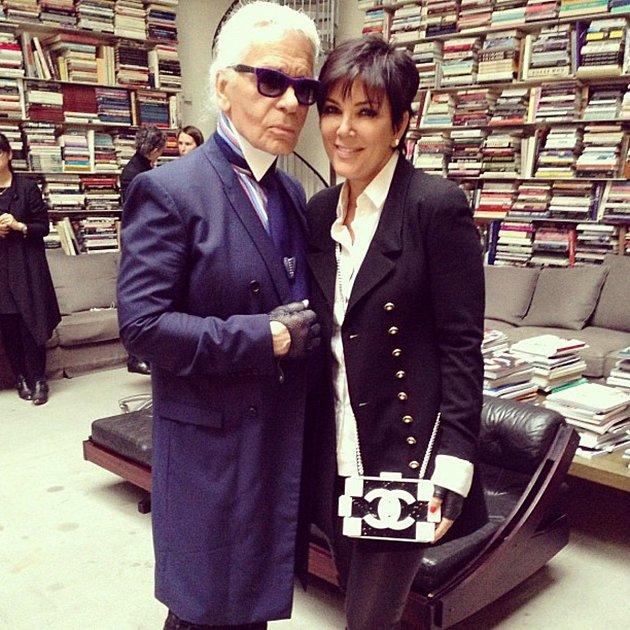 Karl Lagerfeld a Kris Jenner