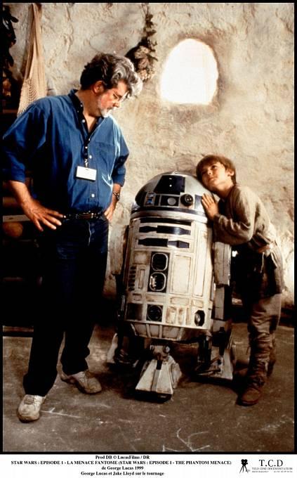 George Lucas s Jakem při natáčení Epizody I