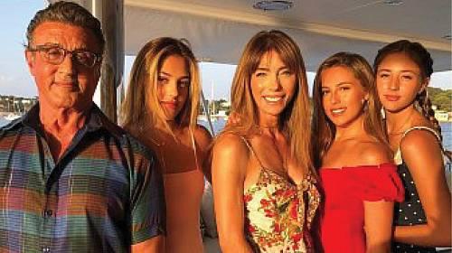 Sylvester Stallone a jeho dcery.