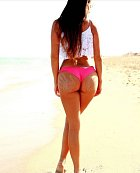 Speciálně na pláži, když získala titul nejlepší tělo pro bikiny.
