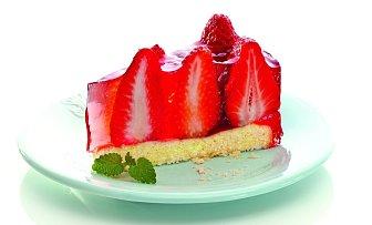 Svěží jahodový dort