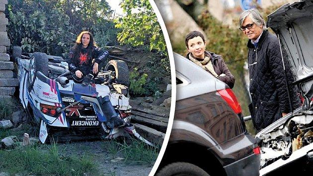 Neblahé zkušenosti od volantu má třeba Olga Lounová nebo Jiří Bartoška.