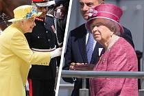 Alžběta II. se snaží stát i sedět vzpřímeně, ale už to není, co to bývalo.