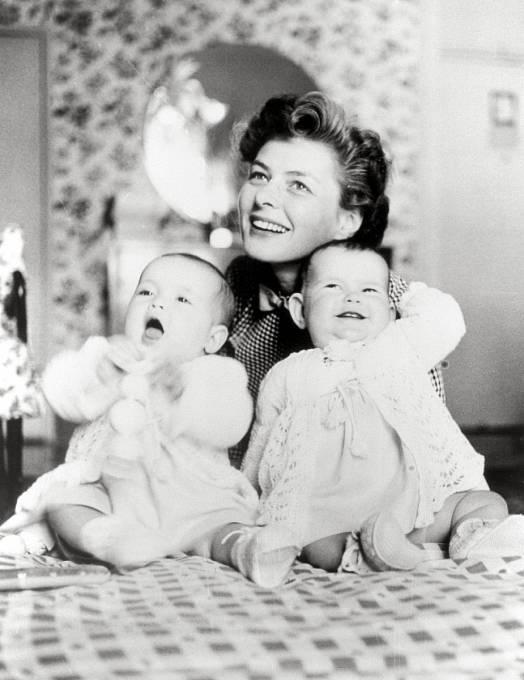 Ingrid měla sRossellinim dvojčata Isabellu aIsottu.