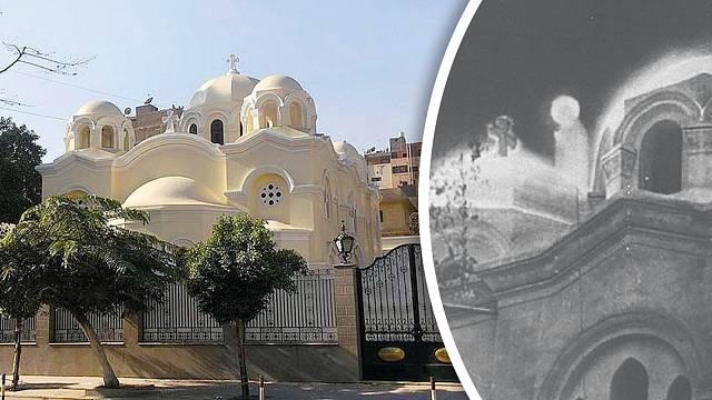 Koptský kostel, najehož střeše se zjevení objevovalo několik let.