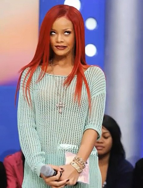 Rihanna je taky královna výrazů.