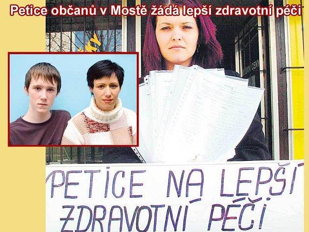 Petici iniciovala Blanka Matysová. Ve výřezu Monika Kažimírová se synem Oliverem.