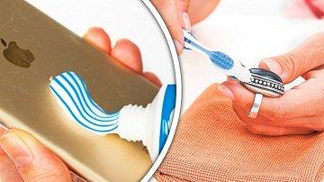 Zubní pastu můžete využít různými způsoby.