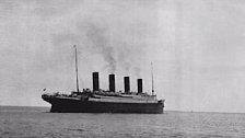 Titanic při odplutí.