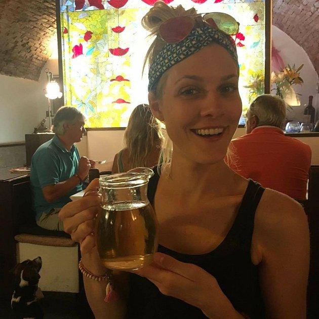 Kateřina Klausová na dovolené
