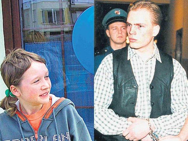 Vendulu Vaňkovou (vlevo) zranil výbušný balonek v obličeji. Kamil Barčiš si odpykává 25 let za vraždu.