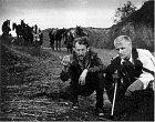 Vláčil (vlevo) při natáčení v roce 1961.