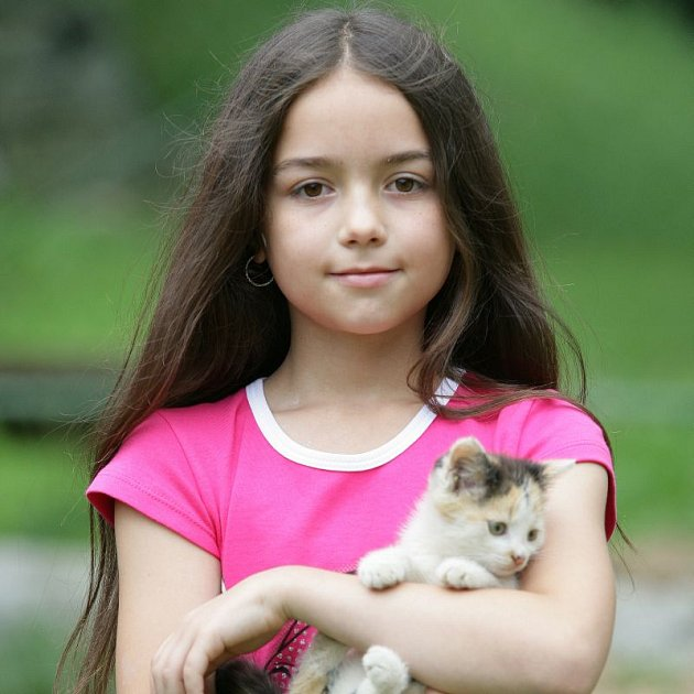 Liduška, která 29. srpna oslaví 10. narozeniny, má ráda koťátka.