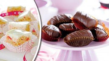 Křupavé marshmallow a švestkové pralinky