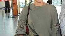 Markéta Konvičková při odletu.