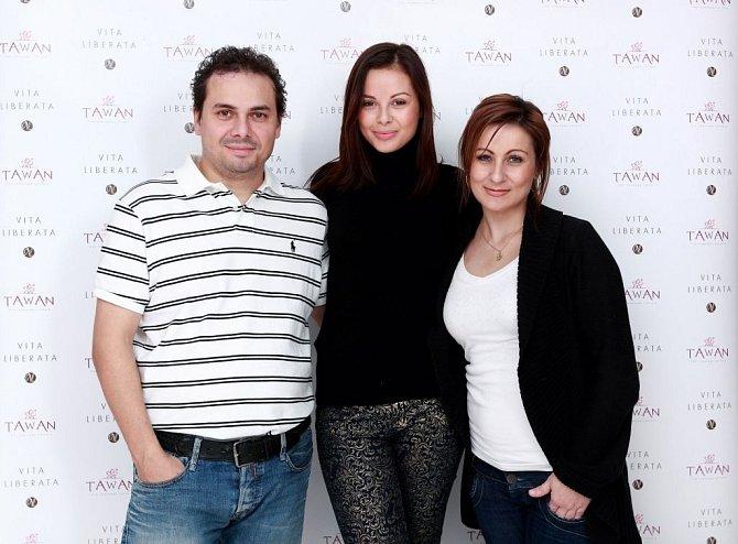 Monika Bagárová s rodiči