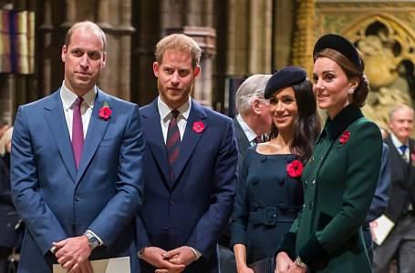 Princ William, princ Harry, Meghan Markle a Kate Middleton