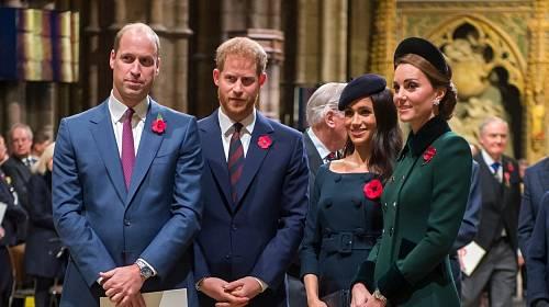 Princ William, princ Harry, Meghan a Kate