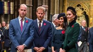Princ William, Harry, Meghan, Kate