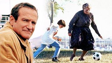 Robin Williams se proslavil zejména díky komedii Táta v sukni (1993).