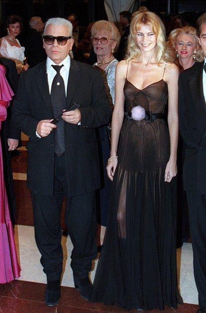 Karl Lagerfeld a Claudia Schiffer