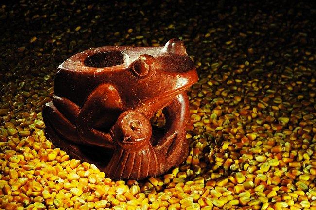 Vindiánských hrobech se našla řada uměleckých předmětů.