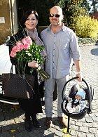 Andrea Kalivodová s manželem a synem