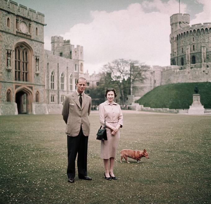 Královna Alžběta a Princ Philip