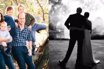 Vánoční pohlednice královských párů