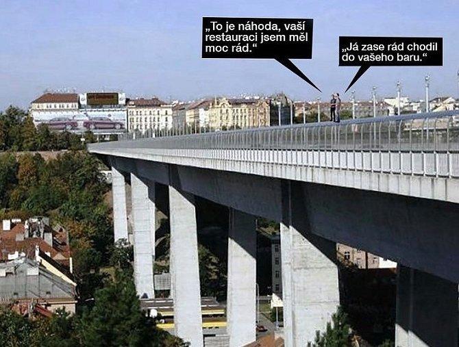 Restauratérům nezbývá než skočit z mostu.