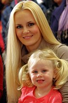 Lucie Hadašová s dcerou
