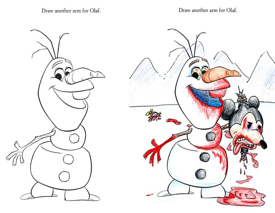 Ahoj, já jsem Olaf a mám rád Mickey Mousí hlavy.