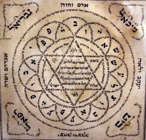 Židovský amulet z 19. století, který měl novorozence chránit před Lilithinou pomstou.