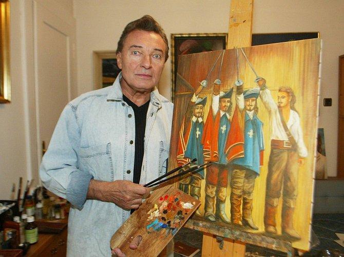 Kromě citu pro módu Gott i skvěle maloval!