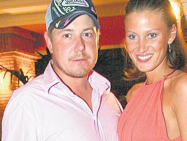 Kateřina Průšová se svým snoubencem podnikatelem Vladimírem Konvalinkou.