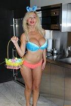 Nadeea Volianova se připravila na Velikonoce po vlastním.