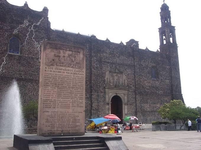 Masakr v Tlatelolco, dnes je zde pomník.