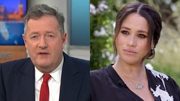 Piers Morgan a Meghan Markle