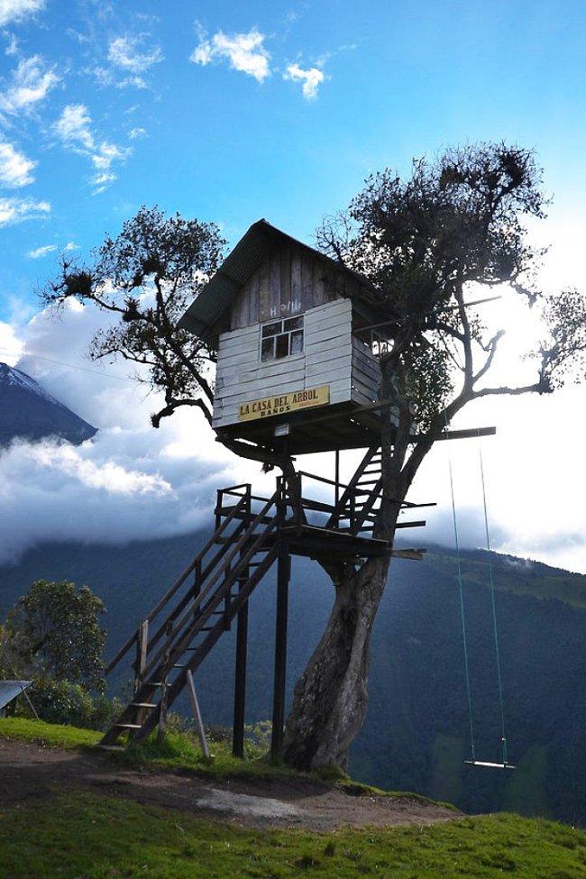 Nejúchvatnější domky na stromě