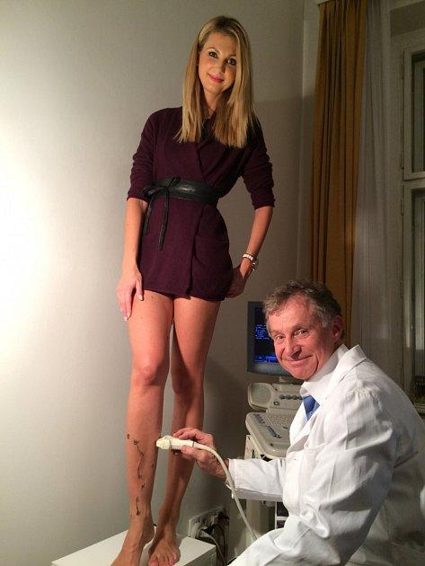 Sandra Parmová na žilní klinice